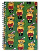 Christmas Teddies Spiral Notebook