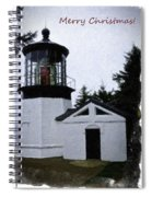 Christmas Time At Cape Meares Lighthouse Spiral Notebook