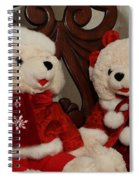 Christmas Time Bears Spiral Notebook