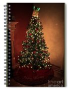 Red And Gold Christmas Tree Without Caption Spiral Notebook