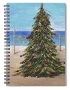 Christmas Tree At The Beach Spiral Notebook