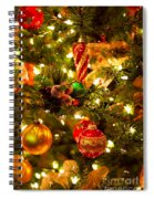 Christmas Tree Background Spiral Notebook