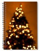 Christmas Tree Bokeh Spiral Notebook