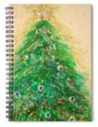 Christmas Tree Gold By Jrr Spiral Notebook