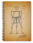 Christmas Tree Holder Patent 1927 Spiral Notebook
