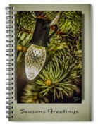 Christmas Tree Light Spiral Notebook