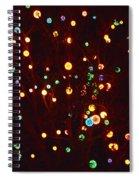 Christmas Tree Lights Spiral Notebook