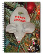 Christmas Tree Mouse Spiral Notebook