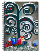 Christmas Tree Swirls And Curls Spiral Notebook