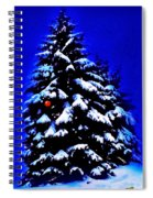 Christmas Tree With Red Ball Spiral Notebook
