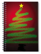 Christmas Tree With Star Spiral Notebook
