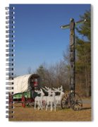 Christmas Wagon Spiral Notebook