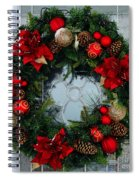 Christmas Wreath Greeting Card Spiral Notebook