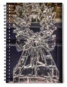 Christmas Wreath Ice Sculpture Spiral Notebook