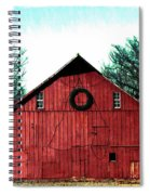 Christmas Wreath On Red Barn Spiral Notebook