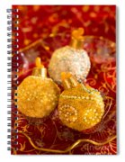 Christmasball Cupcakes In Red Spiral Notebook
