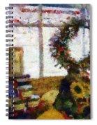 Christmastime Folk Art Fantasia Spiral Notebook