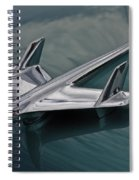 Chrome Airplane Hood Ornament Spiral Notebook