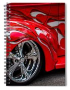 Chrome Red Spiral Notebook