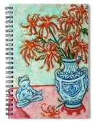 Chrysanthemum And Frog Spiral Notebook
