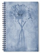 Chrysanthemum Cyanotype Spiral Notebook