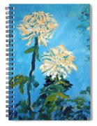 Chrysanthemum Floral Spiral Notebook