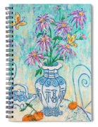 Chrysanthemum Study With Chinese Symbols  Spiral Notebook