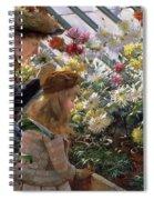 Chrysanthemums, 1890 Spiral Notebook