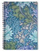 Chrysanthemums In Blue Spiral Notebook