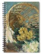Chrysanthemums Or The Overturned Basket Spiral Notebook
