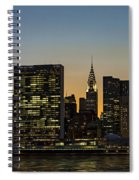 Chrysler And Un Buildings Sunset Spiral Notebook