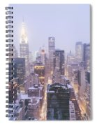 Chrysler Building And Skyscrapers Covered In Snow - New York City Spiral Notebook