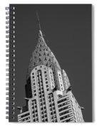 Chrysler Building Bw Spiral Notebook