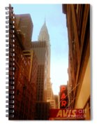 Chrysler Building Rises Above New York City Canyons Spiral Notebook