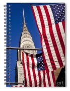 Chrysler Flags Spiral Notebook