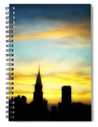 Chrysler Skyline With Incredible Sunset Spiral Notebook