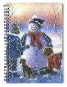 Chubby Snowman  Spiral Notebook