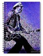 Chuck Berry Rocks Abstract Spiral Notebook