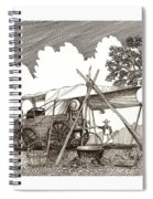 Chuckwagon Cattle Drive Breakfast Spiral Notebook