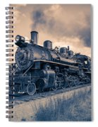 Full Steam Through The Meadow Spiral Notebook