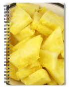 Chunks Of Pineapple Spiral Notebook