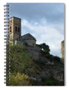 Church And Castle In Puente De Montanana  Spiral Notebook