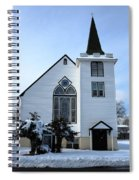 Paramus Nj - Church And Steeplechurch And Steeple Spiral Notebook