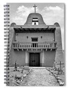 Church At San Ildefonso - Bw Spiral Notebook