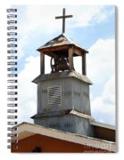 Church Bell Tower In Truchas In New Mexico Spiral Notebook