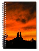 Church Cross Lit By Tucson Sunset Spiral Notebook