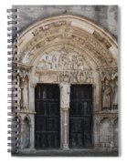 Church Entrance - St  Thibault Spiral Notebook