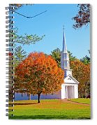Church In Autumn Spiral Notebook