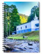 Church In The Mountains By The River Spiral Notebook