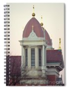 Church Of Gold Crosses Spiral Notebook